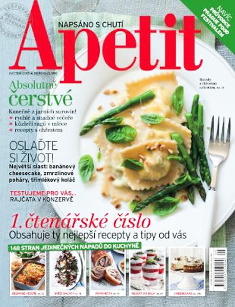 Spolupráce na prvním čtenářském čísle časopisu Apetit