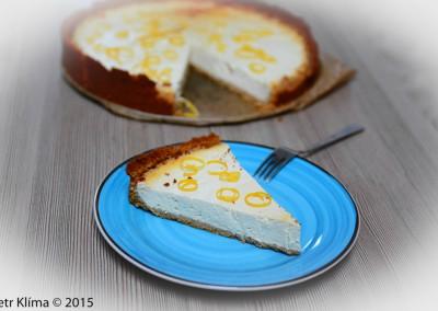 Citronový tofu cheesecake