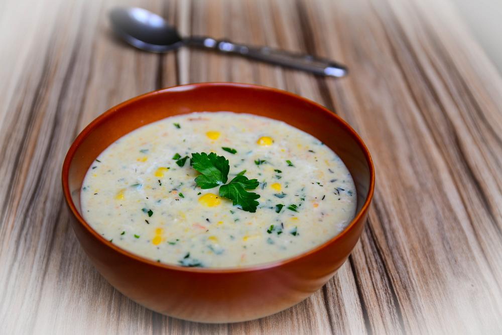 Smetanová kukuřičná  polévka