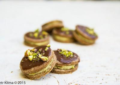 Išlské dortíčky  s avokádovým krémem a pistáciemi