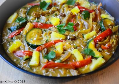 Karibské sójové maso s ananasem