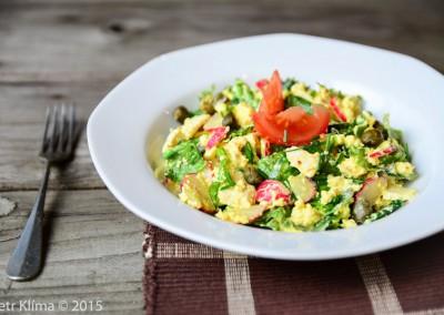 Falešný vajíčkový salát s kapary