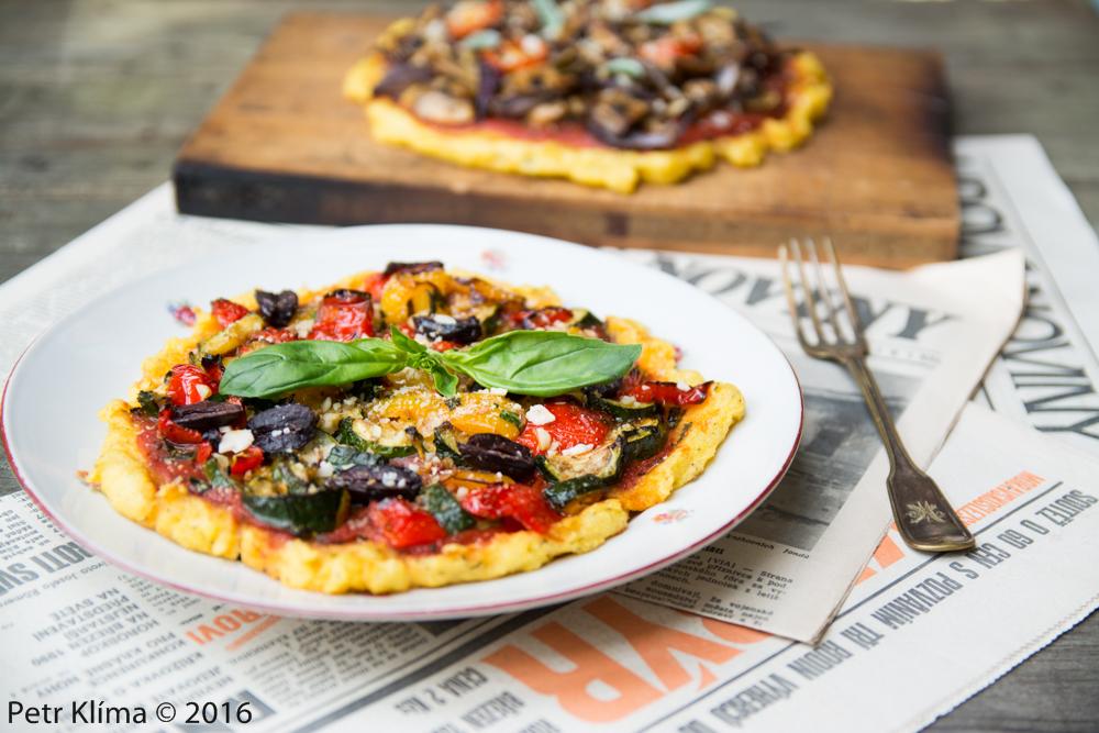 Polentová pizza