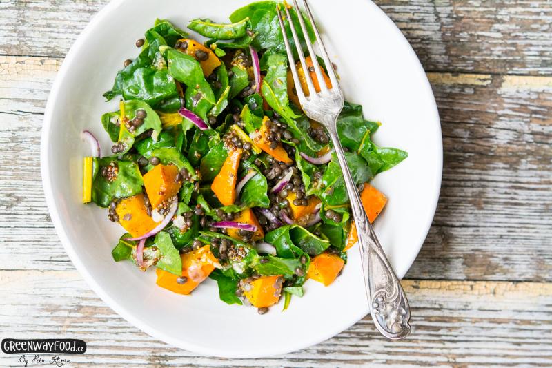 DÝŇOVÝ salát s čočkou a mangoldem