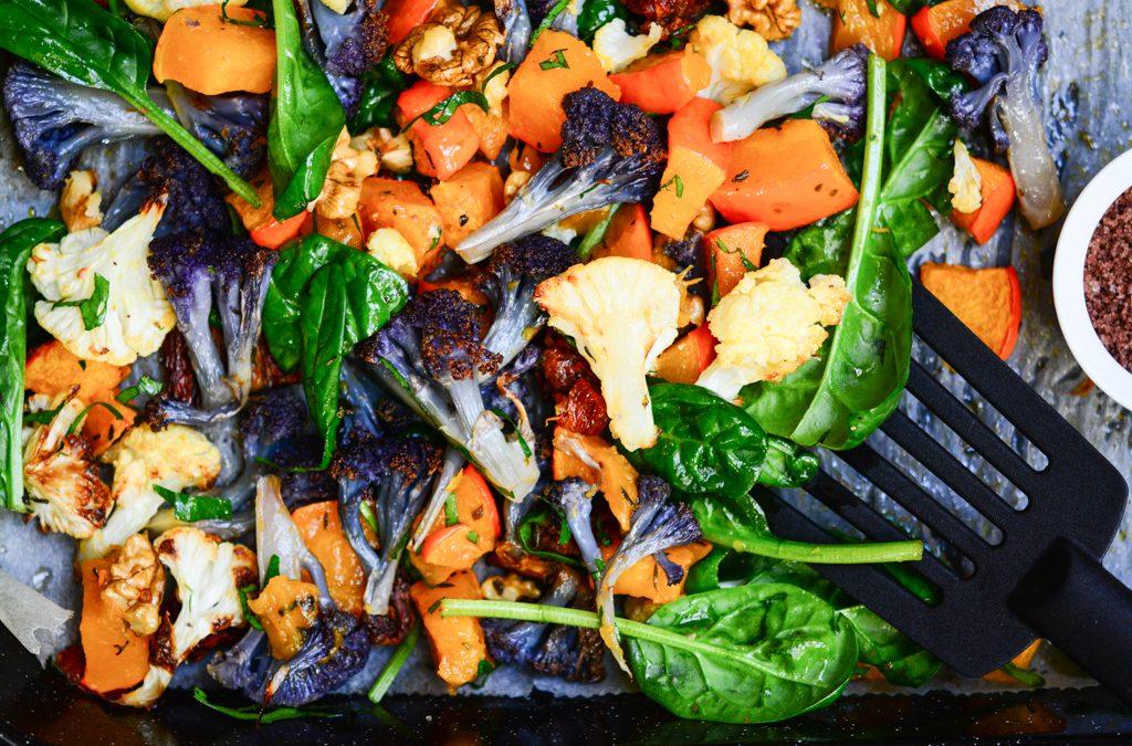 Flor de Sal a výtečná pečená zelenina v podzimním salátu