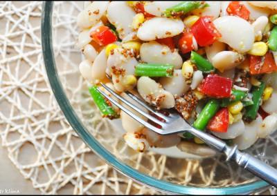 Salát z bílé fazole s hořčicí a křenem