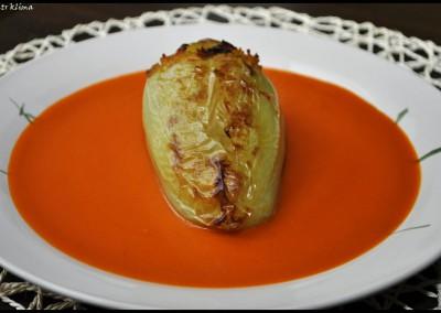 Paprikové lusky plněné tempehem s rajskou omáčkou