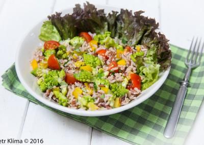 Rýžový salát s romanesco