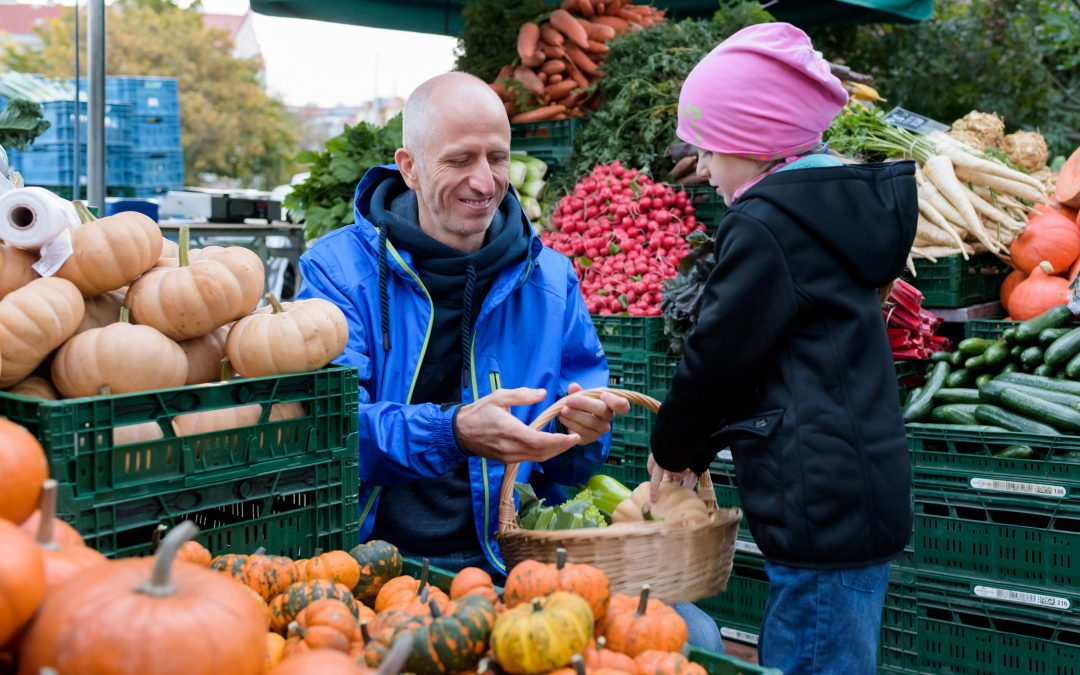 Podzim na farmě a na trhu