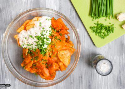 Salát z pečeného celeru v uzené paprice