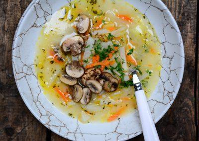Miso KEDLUBNOVÁ polévka  s restovanými žampiony