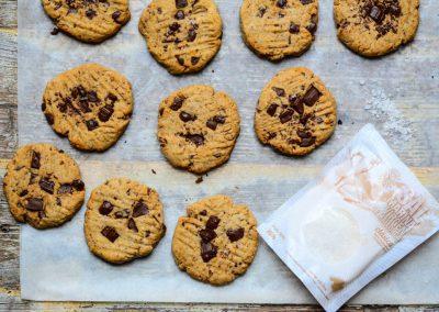 Čirokové sušenky s čokoládou a mořskou solí