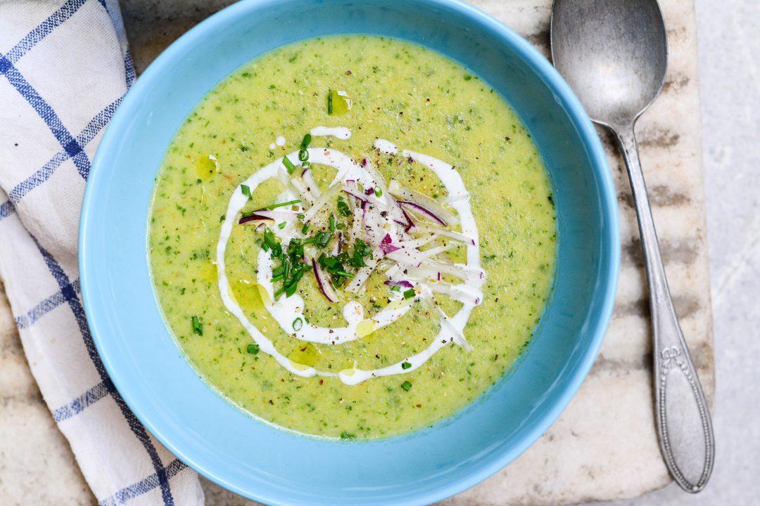Zelená ředkvičková polévka