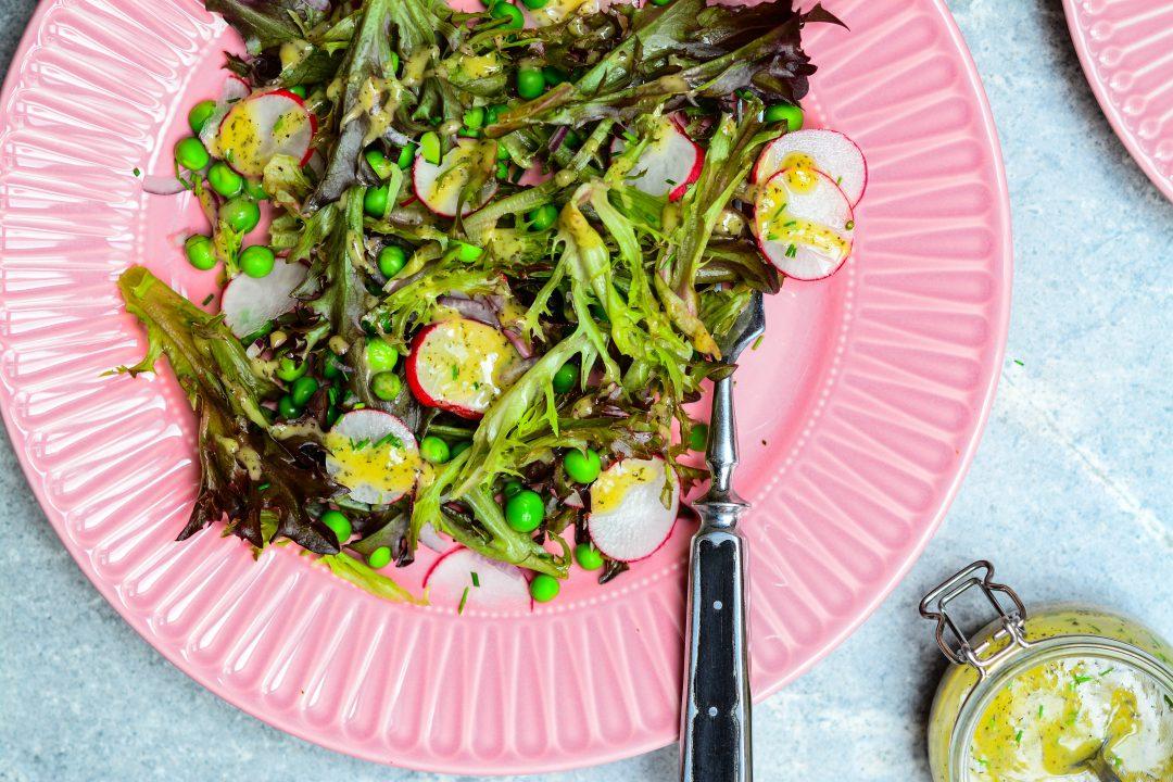 Francouzský salát s hráškem a estragonem